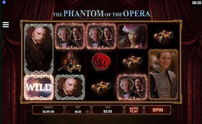características juego el fantasma de la opera