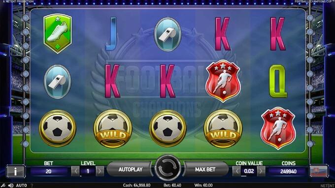 símbolos y características Football Champions Cup