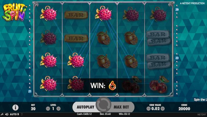 características juego fruit spin