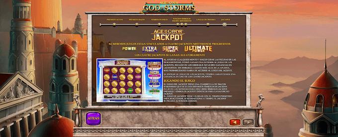 god of storms 4 jackpots distintos