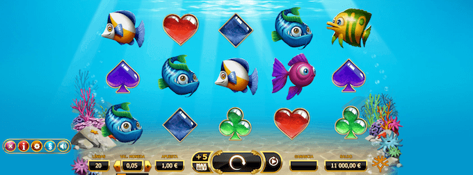 graficos y sonido de la slot golden fish tank