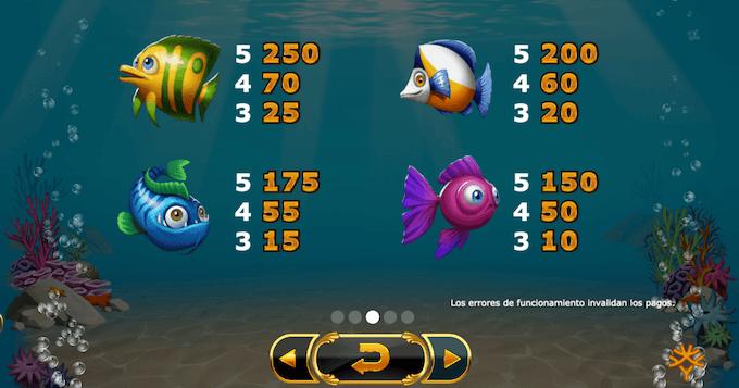 juego slot golden fish tank simbolos pago alto