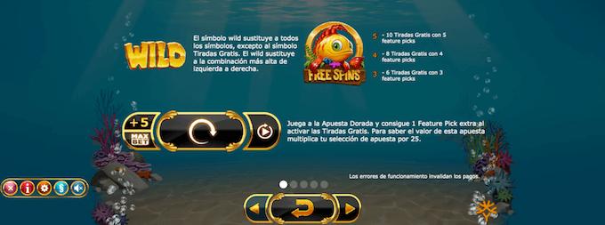 simbolos wild en golden fish tank