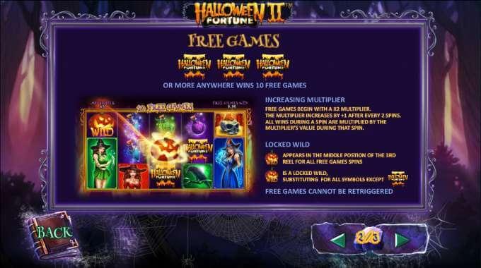 lineas de pago halloween fortune 2