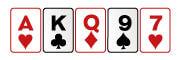 Carta alta en poker de casino en línea