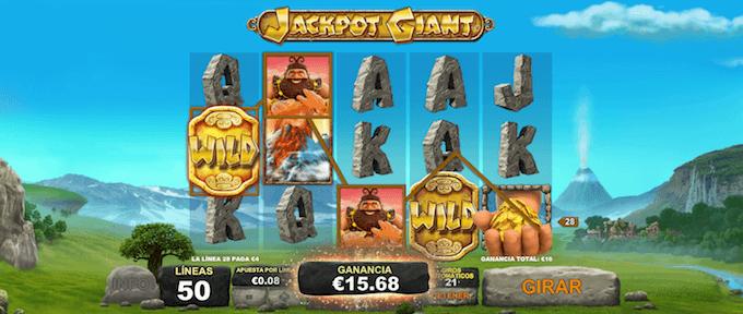caracteristicas juego jackpot giant