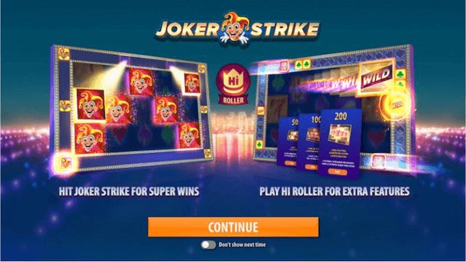 quickspin joker strike modo juego hi roller