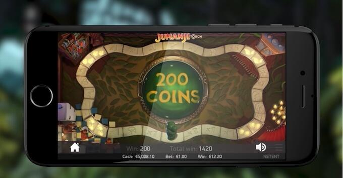jugar tragaperras jumanji en la tablet