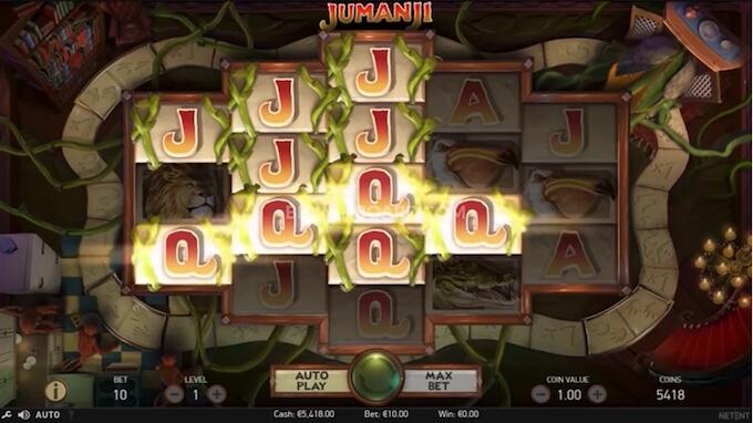 pantalla de juego tragaperras jumanji