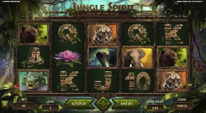 símbolos de la tragamonedas Jungle Spirit: Call of the Wild