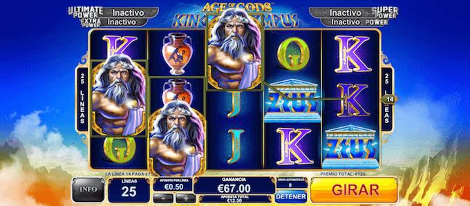 juega con bonos de casino king of olympus