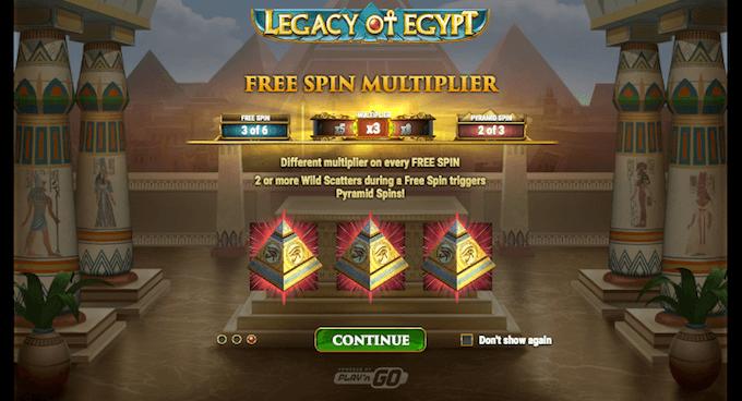 giros gratis legacy of egypt