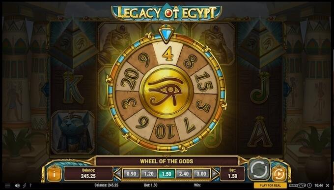 legacy of egypt de play n go rueda de los dioses