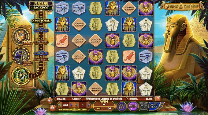 caracteristica juego legend of the nile