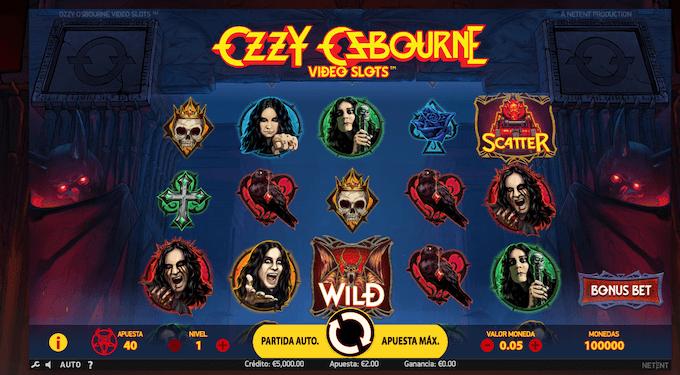 Ozzy Osbourne, la nueva tragamonedas de NetEnt