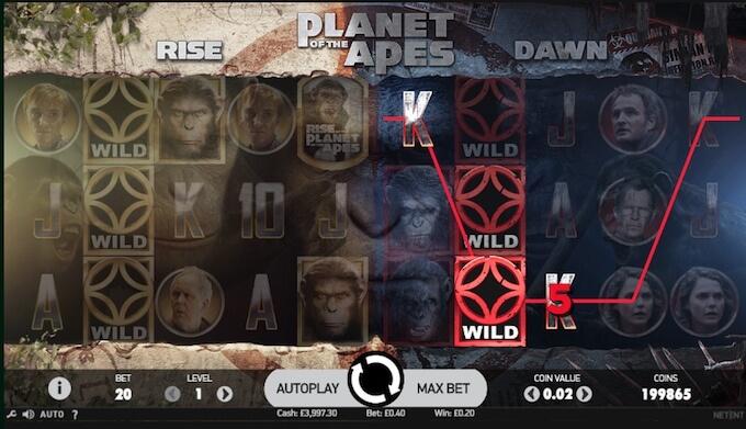 juego slot planeta de los simios