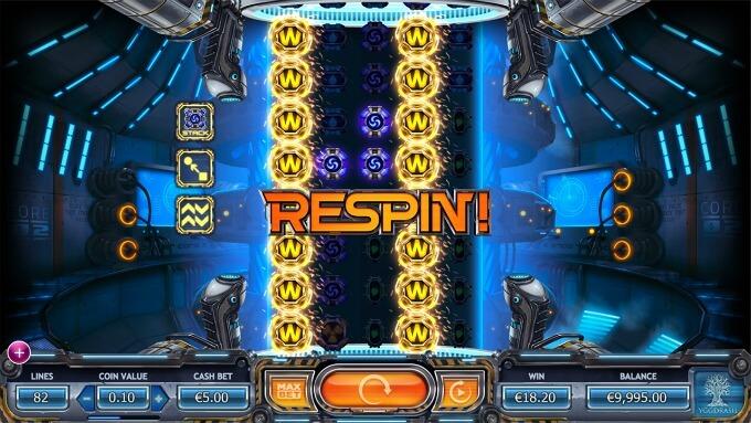 respins del juego slot power plant