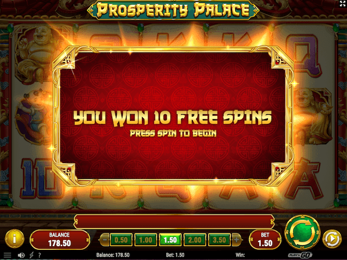 Prosperity Palace giros gratis