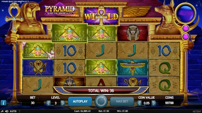 características Pyramid Quest for Immortality
