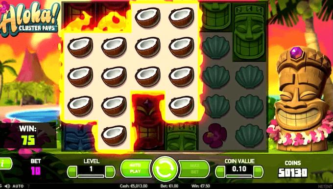 características juego aloha cluster