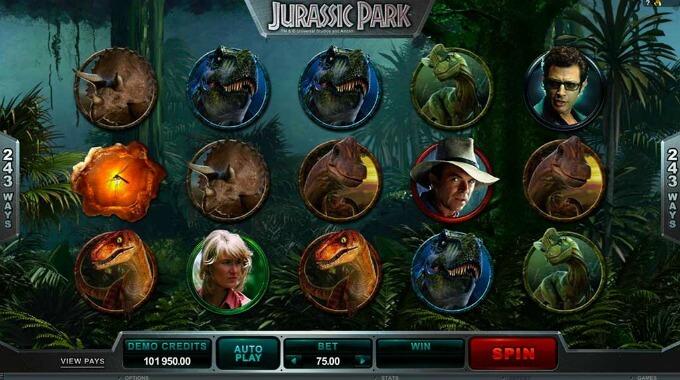 juego slot jurassic park
