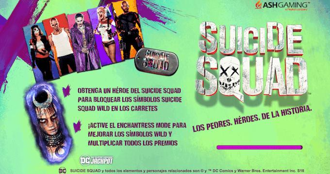Tragamonedas de la película Suicide Squad