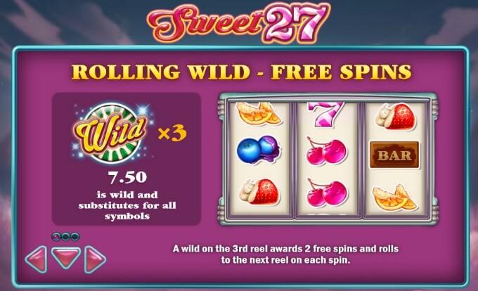 sweet 27 giros gratis