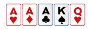 Trío en poker
