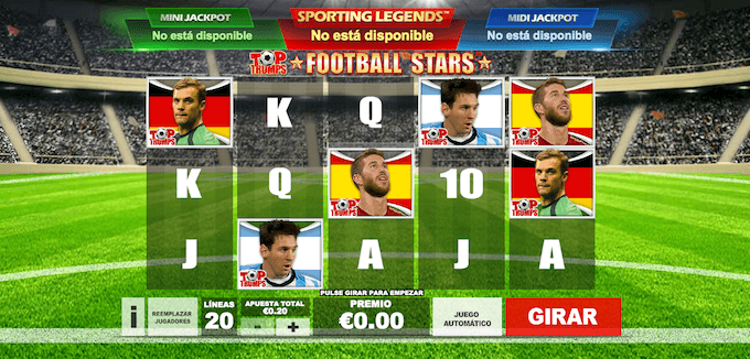 Top Trumps Football Stars graficos y sonido