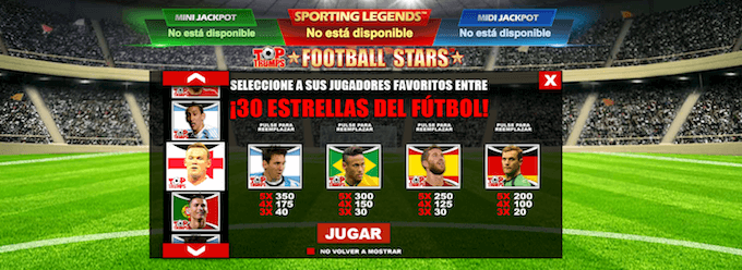 Top Trumps Football Stars personalizar símbolos