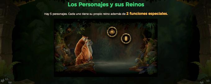 juego slot libro de la selva funciones especiales