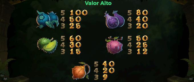 juego de slot libro de la selva simbolos valor alto