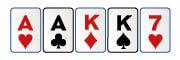 Doble pareja en poker