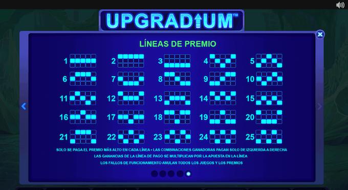 conoce las 25 lineas de pago upgradium