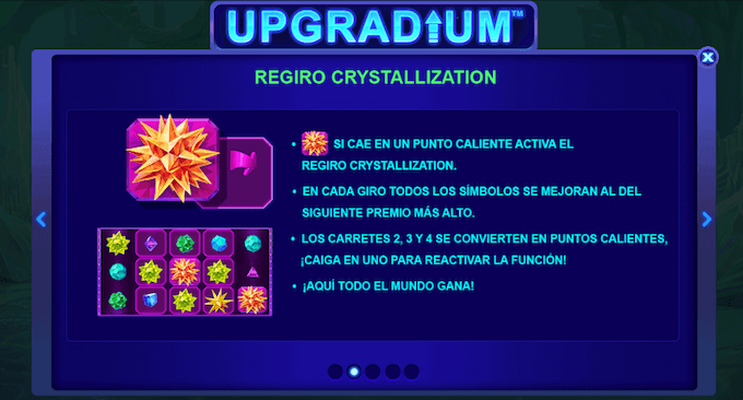 upgradium reespin funciones especiales