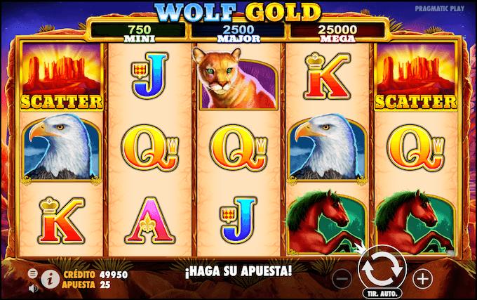 caracteristicas basicas juego wolf gold